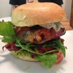 """Der vegane Burger, der sich """"Der Gärtner"""" nennt."""