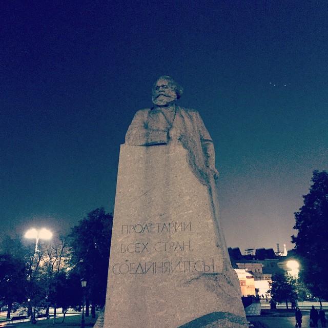 Karl Marx sieht ein bisschen aus wie der Weihnachtsmann.